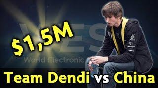 Team Dendi vs China — $1,500,000 tournament
