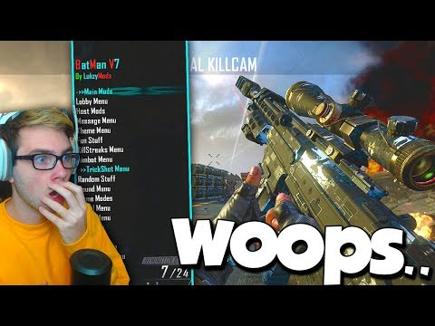 HITTING AIMBOT TRICKSHOTS WITH THE MOD MENU OPEN (woops)