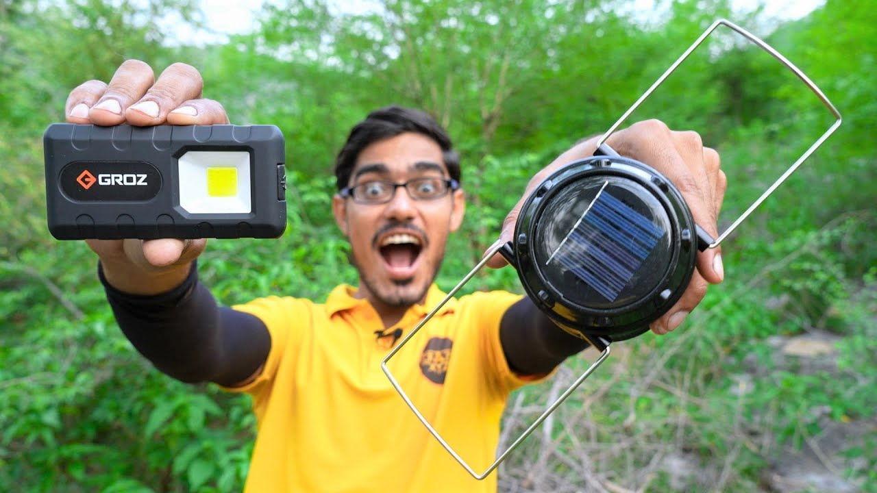 Download Camping Gadgets Part-2   रात में ये चीज़े आपके बहुत काम आएंगी   Night Camp in Jungle