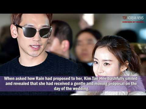 [HOT] Kim Tae Hee Reveals How Rain Proposed To Her