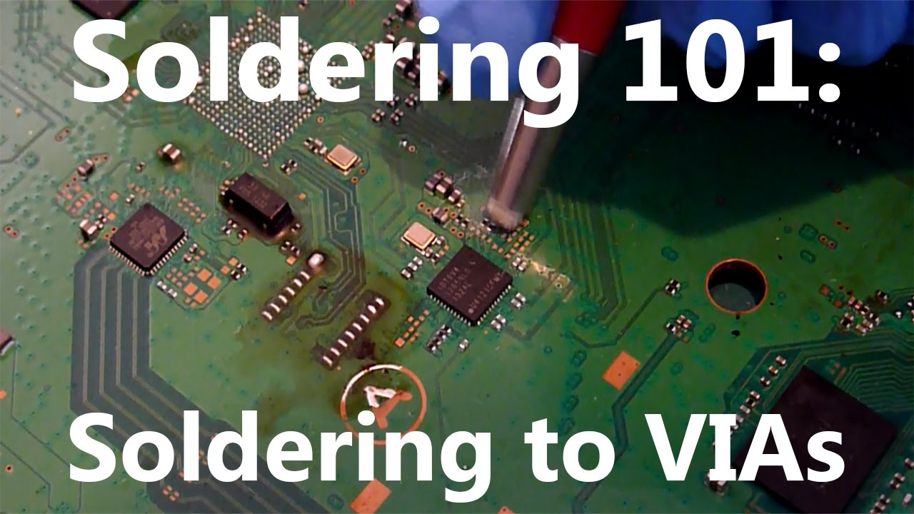 Soldering 101: How to solder to VIAs on PCBs