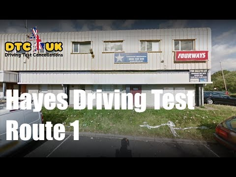 Hayes Driving Test Route 1 |  DTC-UK | Driving Test UK