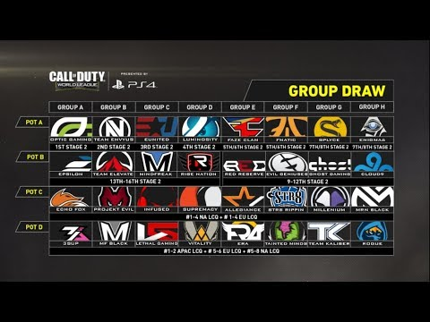 CWL Championship 2017 Live Group Draw Show
