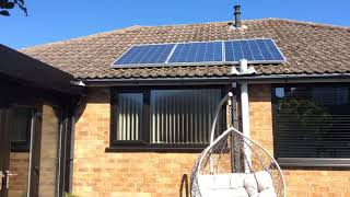 UK off grid DIY 24v solar system.(typical windy day)