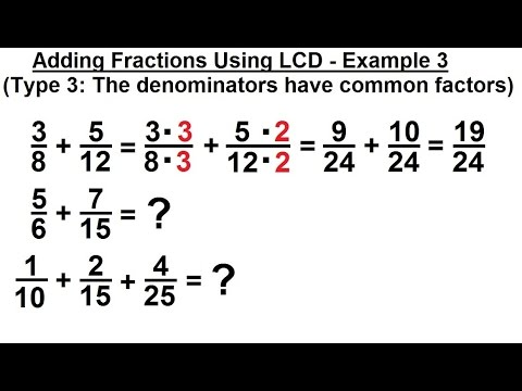 Algebra pre algebra review ch 1 25 of 53 adding fractions algebra pre algebra review ch 1 25 of 53 adding fractions using lcd 3 ccuart Images