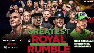 WWE GREATEST ROYAL RUMBLE 2018 ► ENTRY PREDIC...