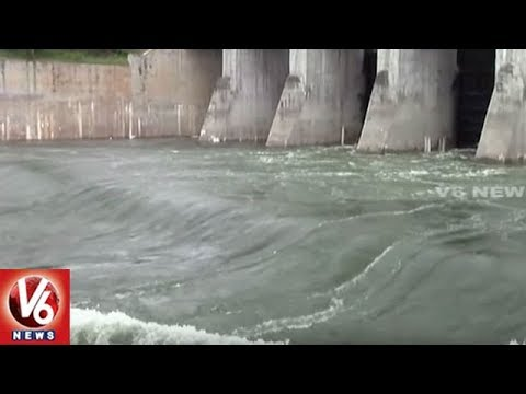 Irrigation Authorities Releases Water From SRSP Into Mid Manair Reservoir | V6 News