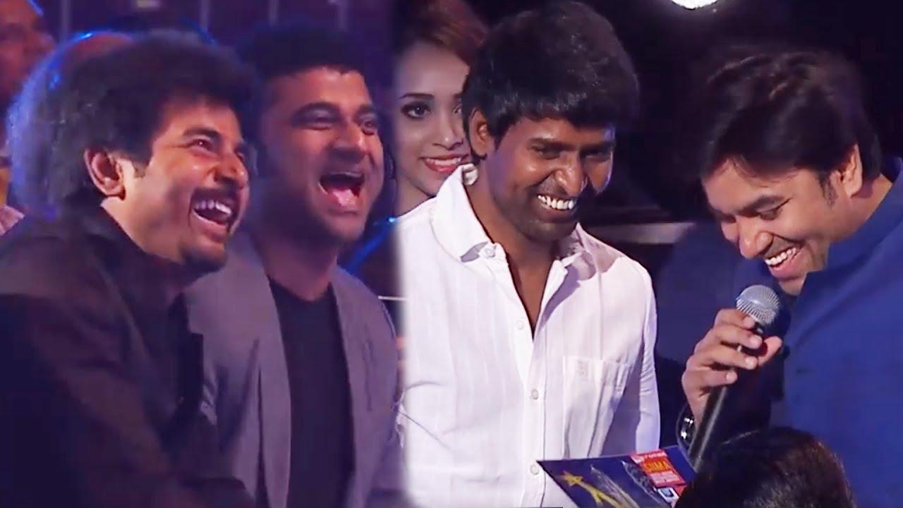 Download Sivakarthikeyan Enjoying Mirchi Shiva And Soori's Non-Stop Comedy