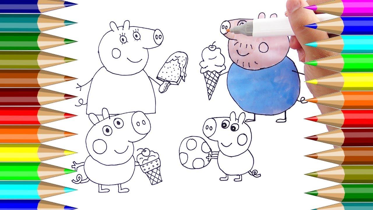 Peppa Pig páginas para colorear  Cómo dibujar la familia Peppa Pig ...