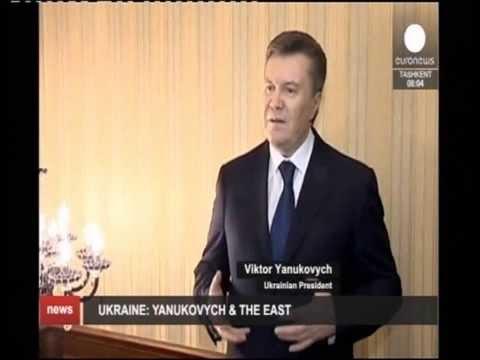 UKRAINE Réaction du Président Viktor Yanukovich et à l'est russophone