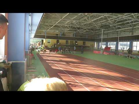 60m run 01 for man in Lithuania master athletics open Klaipeda, 24.02.2018