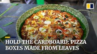 Pizza takeaway in pandan leaves instead of cardboard helps pandemic-hit weavers in the Philippines
