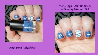 #stampingnailart #maniology #thatsandichic sorry for how long this video it but i wanted to go from start finish using the starter kit! hope you enjoy a...