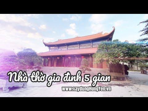 Mẫu Nhà Thờ Gia đình 5 Gian Sử Dụng Ngói Hài Cổ Viglacera Hạ Long | Ngói Lợp đình, Chùa Tại Hưng Yên