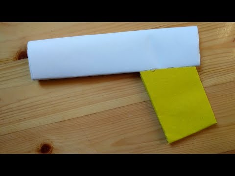 How to make a cool paper pistol weapon that does not shoot for kids easy