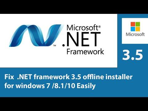 How To Fix Dot .NET Framework 3.5 Offline Installer For Windows 7 /8.1/10 Easily !!