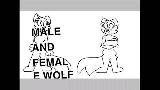 Male And Female Wolf Bases (give Credit If You Want To Use Them)