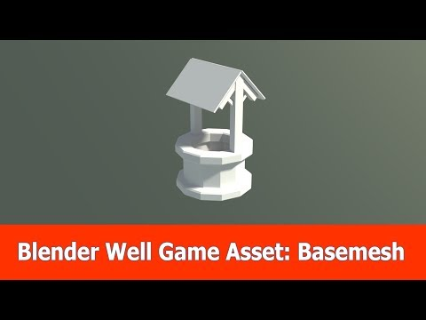 Blender Game Asset: Low Poly Well Modeling (1)