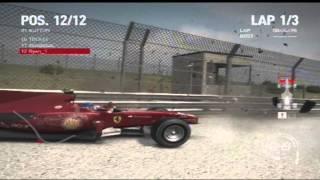 F1 2010 game - Crash Compilation