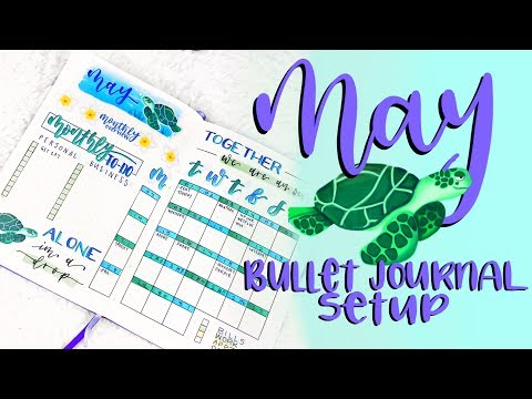 Plan With Me || May 2018 Bullet Journal Setup