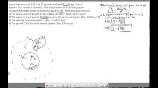 Ch 7 - Circular Motion - Jupiter Problem