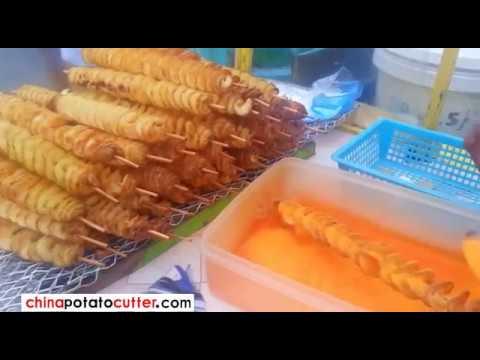 Manila PH  Spiral Fried Potato Tornado Fries Spiral Cut Potato on a Stick