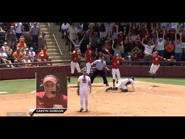 fsu-softball-carsyn-gordon-walk-off-vs-auburn-2018-sportscenter-segment