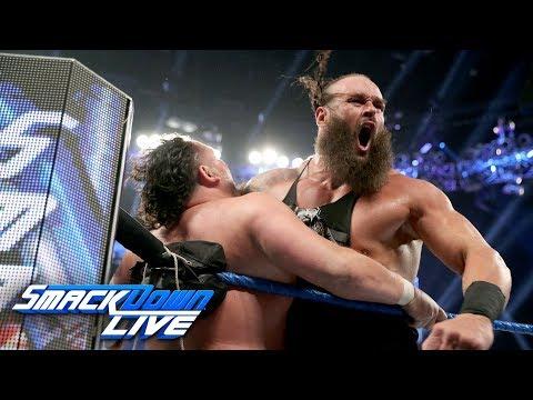 Braun Strowman and Samoa Joe brawl ahead of the Superstar Shake-up: SmackDown LIVE, April 9, 2019