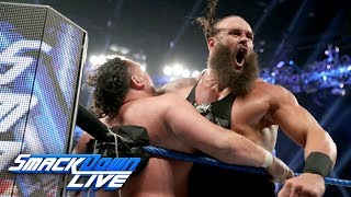 Braun Strowman and Samoa Joe brawl ahead of the Superstar Shake-up: SmackDown LIVE, April 9, 2019