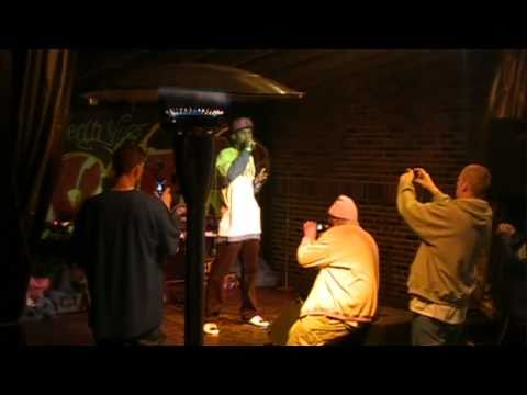 """Solitaire tha H.A.L.O. performing """"Real Shit (Fly Away)"""" at Jay and Jeans 2/25/11"""