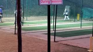 Aniketh Sharma Ganugapati  playing cricket with pads for first time