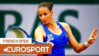 Karolína Plíšková vs Petra Martić Highlights | Roland Garros 2019 Round 3 | Eurosport