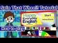 ESL Game - Spin That Wheel tutorial from Happy Everyday English