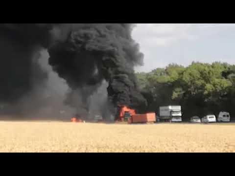 поселок Виноградный, Новоалександровск , Ставропольского края сгорела фура.