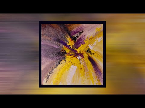 Abstract Painting Techniques / Relaxing / Acrylics / Demonstration