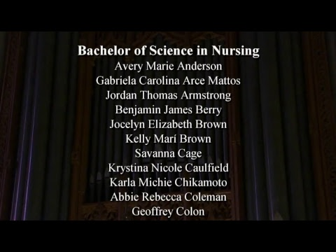 2017 Duke School of Nursing Hooding and Recognition Ceremony