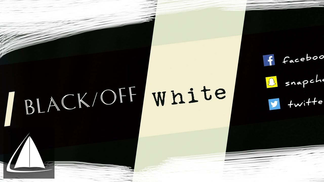 Black/Off White - Free Youtube Banner/Header | .PSD Template