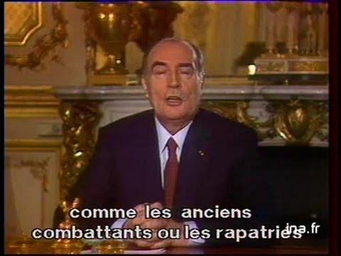 Voeux de François Mitterrand