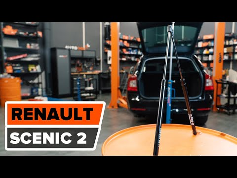 How to change a Gas Struts RENAULT SCENIC 2 TUTORIAL | AUTODOC