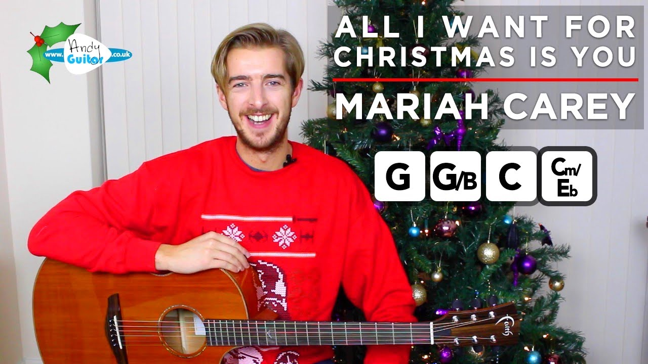 All I Want For Christmas Is You Piano Sheet Music With Letters.All I Want For Christmas Is You Guitar Tutorial Easy Christmas Songs On Guitar Mariah Carey