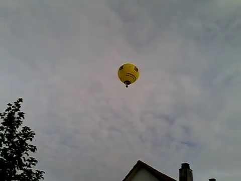 Heißlufftballon über Heilbronn