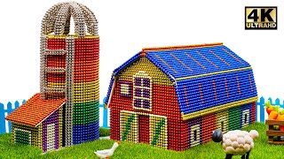 DIY - How To Build Macdonald Farm From Magnetic Balls ( Satisfying ) | Magnet World 4K