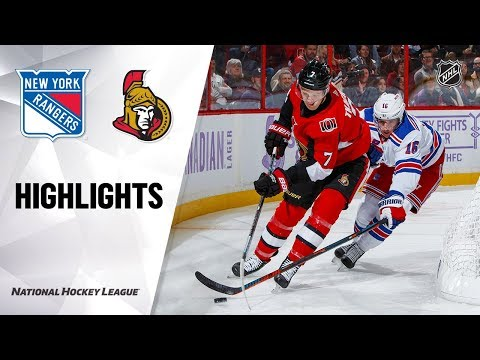 NHL Highlights | Rangers @ Senators 11/22/19