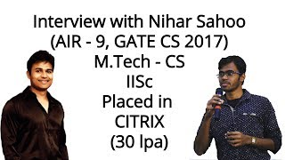 RBR With Nihar - Toppers Talk My GATE Experience \u0026 Life At   Sc Bangalore