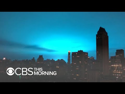 Blue light from power plant explosion causes confusion in New York City