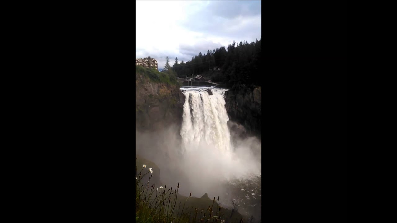 Twin Peaking Out, Snoqualmie Falls Washington -