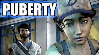 THE WALKING DEAD A New Frontier - Clementine On Puberty / Her Period