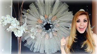 How to make a Christmas Wreath CHEAP AND EASY!
