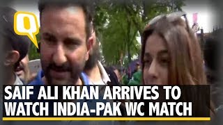 Actor Saif Ali Khan on India vs Pakistan Clash at ICC World Cup | The Quint