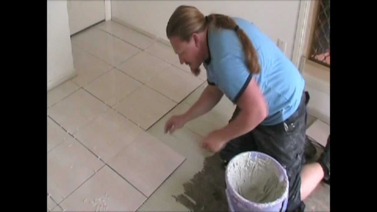 How to lay floor tiles youtube dailygadgetfo Images